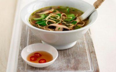 Chinese Pak Choi & Noodles Soup